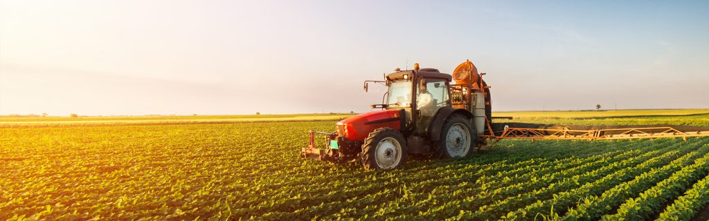 Tractor with crop cultivator