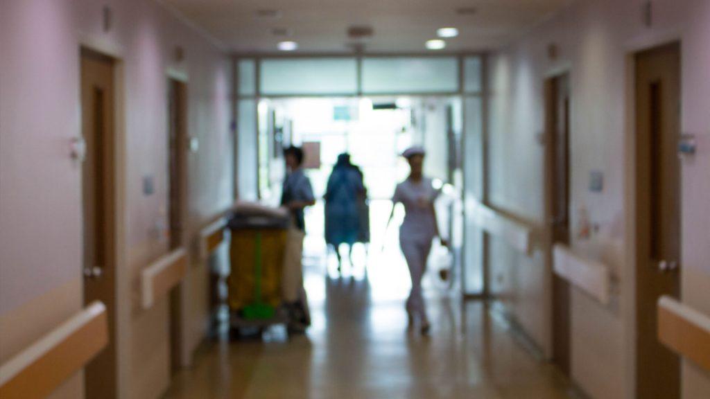 Inside of a hospital