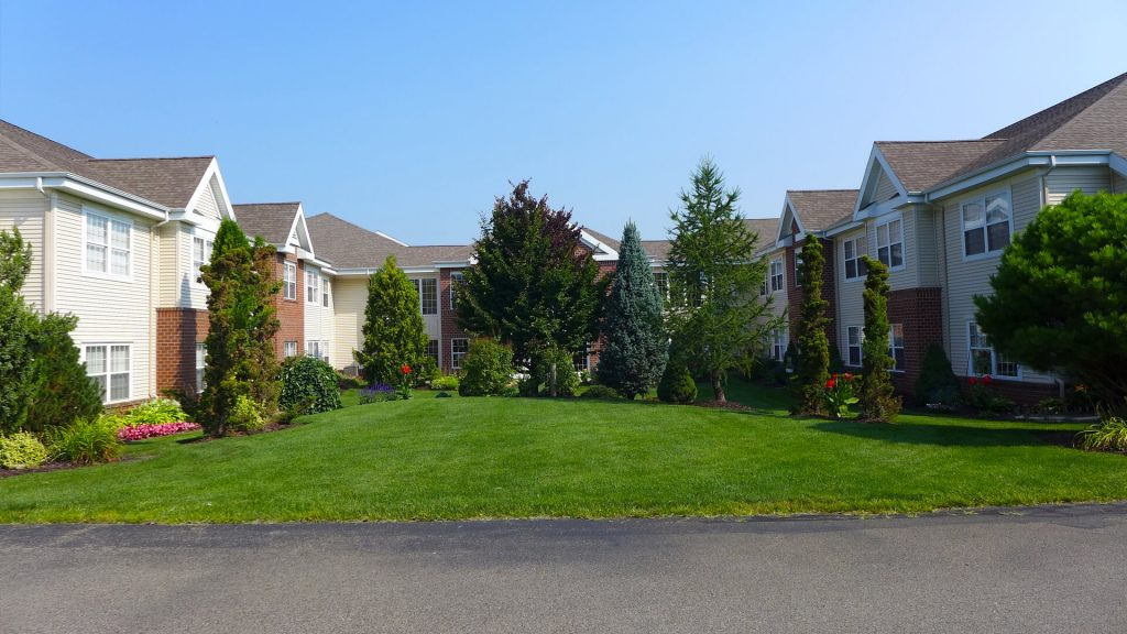 Outside residential houses