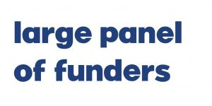 Large panel of funders